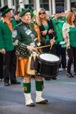 Drummer in Kilt Royalty Free Stock Image