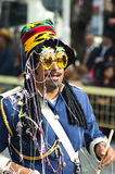 Drummer at Limassol carnival parade Stock Image