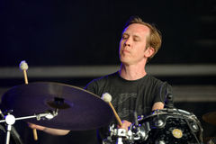The drummer of Machinedrum (electronic music producer and performer) performance at Sonar Festival Stock Photography