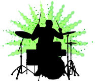Drummer man/ai. Silhouette illustration of a man playing the drums...ai available Stock Photography