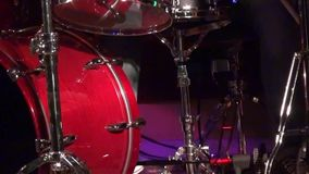 Drummer man playing drums - Close up of drumming man stock video