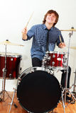 Drummer man Royalty Free Stock Image