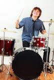 Drummer man Royalty Free Stock Image