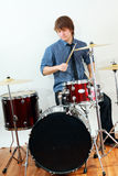 Drummer man Royalty Free Stock Images