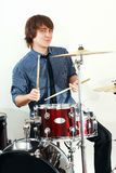 Drummer man Stock Images