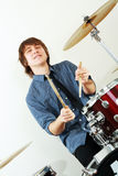 Drummer man Stock Photo