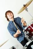 Drummer man Stock Photo