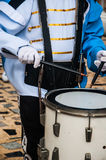 Drummer in a Marching Band Stock Photo