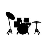 Drummer music instrument Stock Images