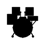 Drummer music instrument Royalty Free Stock Photography