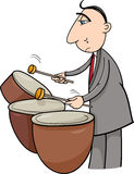 Drummer musician cartoon illustration Stock Photo