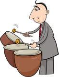 Drummer musician cartoon illustration Stock Photo