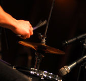 Drummer performing Stock Image