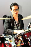 Drummer performing during Swarovski show at Audi Fashion Festival 2012 Stock Image