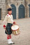 Drummer of Pipe Band royalty free stock photos