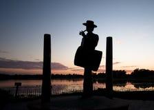 Drummer- piper statue El Rocio, Spain Royalty Free Stock Image