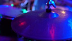 Drummer play the drum stock video