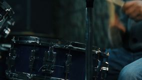 Drummer Playing On Drums. Close Up stock video footage