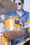 Drummer playing drums Royalty Free Stock Photography