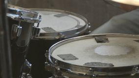 Drummer plays the drum. Drummer plays on the drum stock video footage