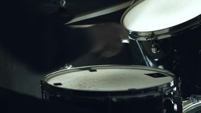 Drummer plays the drums. 4k. close up stock video footage