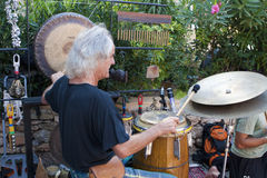Drummer at Punta Arabi Hippie Market Royalty Free Stock Photo