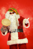 Drummer Santa Royalty Free Stock Photography
