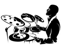 Drummer, silhouette Stock Photos