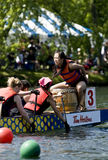 The Drummer of Sovereign  Dragon Boat Stock Images