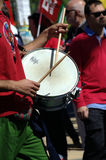 Drummer in the 1st May demonstration 18 Royalty Free Stock Photo