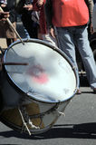 Drummer in the 1st May demonstration 19 Stock Image