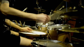 Drummer in studio stock video