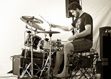 Drummer Troy Howard plays Cultivate Food Festival - Port Hope Ontario Stock Image
