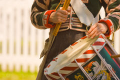 Drummer at a War of 1812 re-enactment Stock Photography