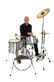 Drummer on white Stock Photos