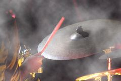 Drummer at work Royalty Free Stock Image