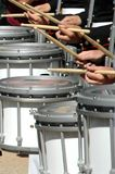 Drummers all in a row Royalty Free Stock Image