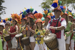 Drummers at annual Summer Solstice Celebration. And Parade June 2007, since 1974, Santa Barbara, California Stock Images