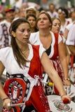Drummers from Batala Banda de Percussao Royalty Free Stock Image