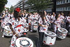 Drummers from Batala Banda de Percussao Stock Photo