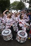 Drummers from Batala Banda de Percussao Royalty Free Stock Photos
