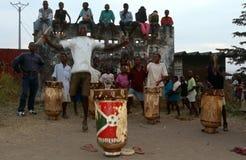 Drummers in Burundi. Stock Photography