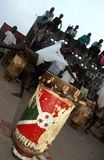 Drummers in Burundi. Royalty Free Stock Photos