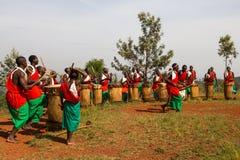 Drummers of Burundi Royalty Free Stock Photos