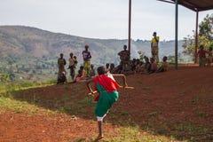 Drummers of Burundi. Gishora village Royalty Free Stock Photo
