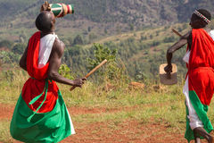 Drummers of Burundi. Gishora village Stock Photography