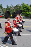 Drummers in Changing of Guard, Ottawa stock photo