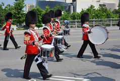 Drummers in Changing of Guard, Ottawa Stock Images