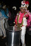 Drummers in costumes at the Grand Carnival Parade Royalty Free Stock Photo