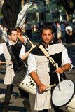 Drummers and flags Royalty Free Stock Photos